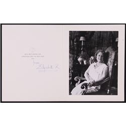 """Queen Elizabeth """"The Queen Mother"""" Signed """"1972 Christmas Holiday Card"""" (Beckett LOA)"""