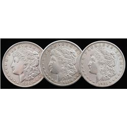 Lot of (3) Morgan Silver Dollars with 1921-D, 1921-S,  1921