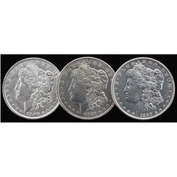 Lot of (3) Morgan Silver Dollars with 1886-O, 1896,  1921-S