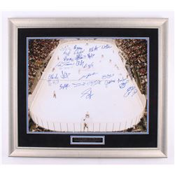 New York Rangers All-Time Greats 27.5x31.5 Custom Framed Photo Signed by (26) with Mark Messier, Bri