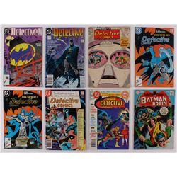 "Lot of (8) 1964-89 ""Detective Comics"" #324-#608 DC Comic Books"