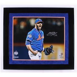 Matt Harvey Signed New York Mets 28.5x32.5 Custom Framed Photo Display (Steiner COA  MLB Hologram)