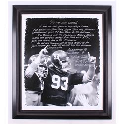 Marty Lyons Signed Alabama Crimson Tide 27.5x31.5 Custom Framed Print On Canvas Display with Extensi