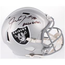 "Josh Jacobs Signed Oakland Raiders Speed Full-Size Helmet Inscribed ""Raider Nation""  (JSA COA)"