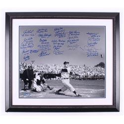 New York Yankees LE 27.5x31.75 Custom Framed Photo Signed by (25) with Reggie Jackson, Joe Torre, Da