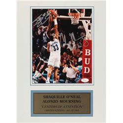 """Shaquille O'Neal  Alonzo Mourning Signed LE """"Centers Of Attention"""" 12x16 Custom Matted Photo Display"""