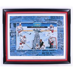 """""""Rest in Peace 1940"""" New York Rangers 30.5x37.5 Custom Framed Lithograph Display Signed By (4) with"""