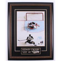 Sidney Crosby Signed Pittsburgh Penguins 26.5x33.5 Custom Framed Photo (Frameworth COA)