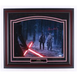 "Daisy Ridley Signed ""Star Wars: The Force Awakens"" 23.5x27 Custom Framed Photo Display (PSA COA)"