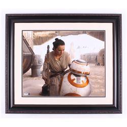 "Daisy Ridley Signed ""Star Wars: The Force Awakens"" 24x28 Custom Framed Photo Display (PSA COA  Stein"