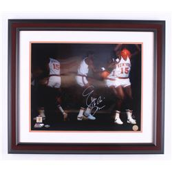 "Earl ""The Pearl"" Monroe Signed New York Knicks 23.5x27.5 Custom Framed Photo Display (Steiner COA)"