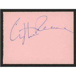 Christopher Reeve Signed 3.5x4.5 Cut (JSA LOA)