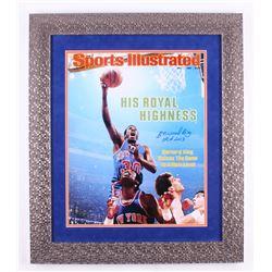 "Bernard King Signed New York Knicks 24.5x28.5 Custom Framed Photo Display Inscribed ""HOF 2013"" (Stei"
