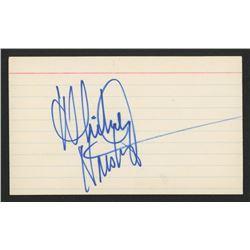 Whitney Houston Signed Index Card (JSA LOA)