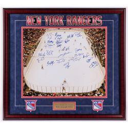 New York Rangers 32x35 Custom Framed Photo Display Team-Signed by (26) with Mark Messier, Glenn Ande