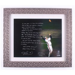Jesse Orosco Signed New York Mets 24.5x28 Custom Framed Photo Display with Extensive Inscription (St