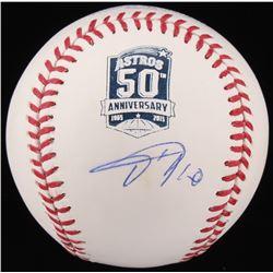 Yuli Gurriel Signed Houston Astros 50th Anniversary Logo Baseball (JSA COA)
