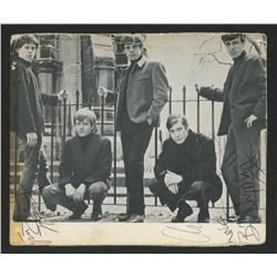 Rolling Stones Postcard Signed by (4) with Keith Richard, Charlie Watts, Bill Wyman  Brian Jones (Re