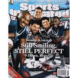 """Tedy Bruschi, Mike Vrabel,  Rosevelt Colvin Signed New England Patriots """"Sports Illustrated"""" 16x20 P"""