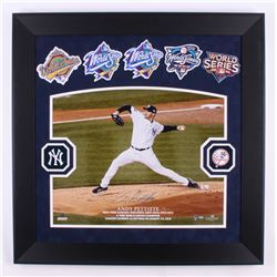 Andy Pettitte Signed LE New York Yankees 29x29 Custom Framed Photo With (5) World Series Patches (St