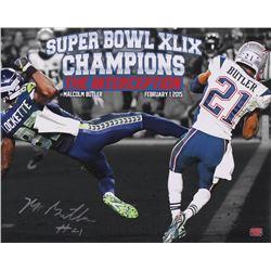 "Malcolm Butler Signed New England Patriots ""The Interception"" 16x20 Photo (Butler COA)"
