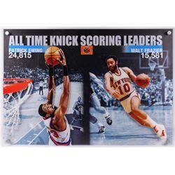All Time New York Knicks Scoring Leaders 33x41 Custom Mounted Display