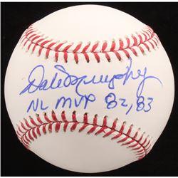 """Dale Murphy Signed OML Baseball Inscribed """"NL MVP 82, 83"""" (Radtke COA)"""