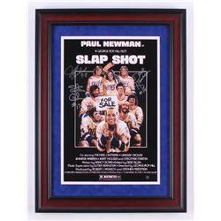 """David Hanson, Jeff Carlson  Steve Carlson Signed """"Slap Shot"""" 17x23 Custom Framed Photo Display (Stei"""