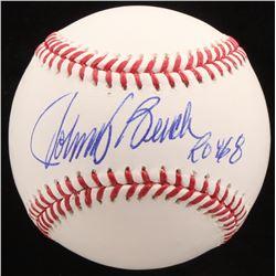 "Johnny Bench Signed OML Baseball Inscribed ""ROY 68"" (Radtke COA)"