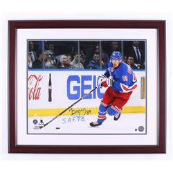 """Pavel Buchnevich Signed New York Rangers 22x26 Custom Framed Photo Display Inscribed """"S.A.F.T.B."""" (S"""