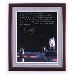 Brian Leetch Signed New York Rangers 22x26 Custom Framed Photo Display with Extensive Inscription (S