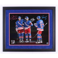 Kevin Shattenkirk, J.T. Miller  Ryan McDonagh Signed New York Rangers 22x26 Custom Framed Photo Disp
