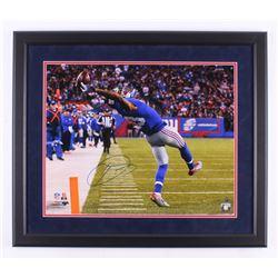 Odell Beckham Jr. Signed New York Giants 23.5x27.5 Custom Framed Photo Display (Steiner COA)