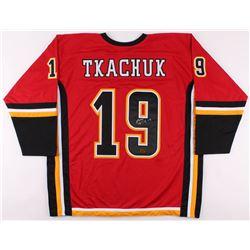 Matthew Tkachuk Signed Jersey (Tkachuk COA)
