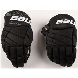Chris Kelly Signed Pair of Game-Used Hockey Gloves (Kelly COA)