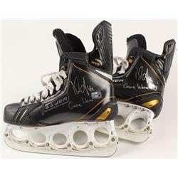 Dennis Seidenberg Signed Pair of Game-Used Boston Bruins Hockey Skates (Seidenberg COA)