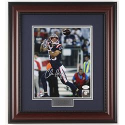 Chris Hogan Signed New England Patriots 14.75x16.5 Custom Framed Photo Display (JSA COA)