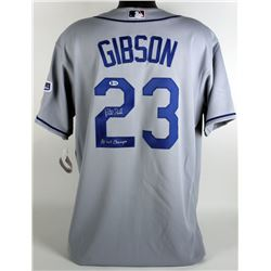 """Kirk Gibson Signed Los Angeles Dodgers Majestic Jersey Inscribed """"88 WS Champs"""" (Beckett COA)"""