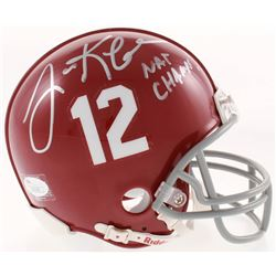 "Lane Kiffin Signed Alabama Crimson Tide Mini-Helmet Inscribed ""Nat Champs!"" (JSA COA)"