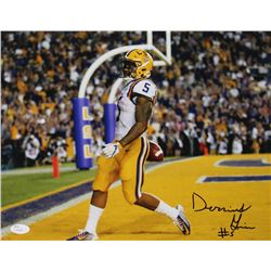 Derrius Guice Signed LSU Tigers 11x14 Photo (JSA COA)