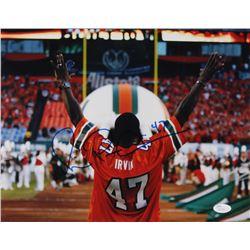Michael Irvin Signed Miami Hurricanes 11x14 Photo (JSA COA)