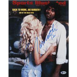 """Joe Namath Signed """"Sports Illustrated Magazine Cover"""" 11x14 Photo (Beckett COA)"""