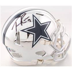 Tony Romo Signed Dallas Cowboys Chrome Speed Mini Helmet (Beckett COA)