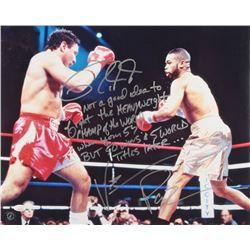 Vinny Pazienza  Roy Jones Jr. Signed 16x20 Photo with Extensive Inscription (JSA COA)