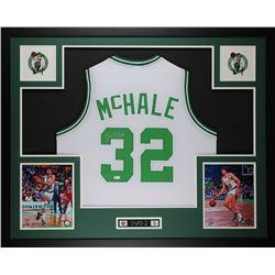 Kevin McHale Signed 35x43 Custom Framed Jersey (JSA COA)
