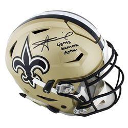 "Alvin Kamara Signed New Orleans Saints Full-Size Authentic On-Field SpeedFlex Helmet Inscribed ""Ligh"