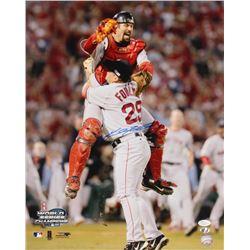 Keith Foulke Signed Boston Red Sox 16x20 Photo (JSA COA  Sure Shot Promotions Hologram)