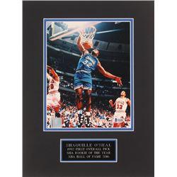 Shaquille O'Neal Signed Orlando Magic 12x16 Custom Matted Photo Display (Beckett COA)