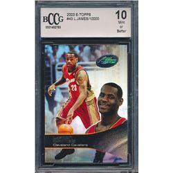 2003 eTopps #43 LeBron James / 10000 (BCCG 10)