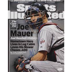 Joe Mauer Signed Minnesota Twins 11x14 Photo (JSA COA)